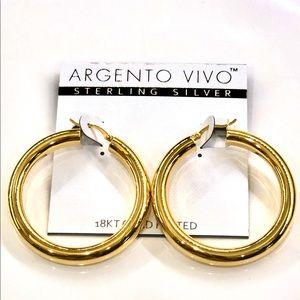 ARGENTO VIVO sterling silver hoop earrings